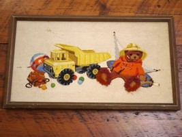 Vintage 60s Colorful Teddy Bear Tonka Truck Chi... - $39.99