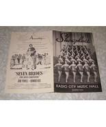 Showplace Radio City Music Hall Rockefeller Center NYC Program 1954 - $14.99