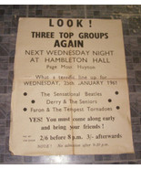 The Sensational Beatles Hambleton Hall Poster 1976 - £47.76 GBP