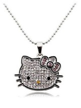 Sweet Crystal Princess Hello Kitty Sweater Chain with Austrian Elements ... - $69.44