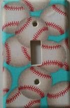 Baseball Light Switch Cover bedroom decor sports kid playroom mitt glove... - $4.75