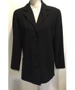 Karen Scott Women's Career Work Office Dress Black Button Blazer Jacket ... - $30.35