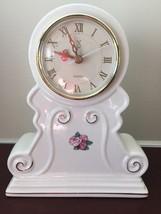 PS Paul Sebastian Porcelain Limited Edition Roses Gold Trim Mantel Clock... - $26.17