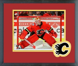 Brian Elliott 2016-17 Calgary Flames - 11 x 14 Team Logo/Matted Framed Photo - $42.95