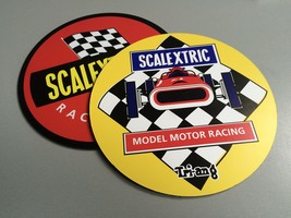 Scalextric 2 composite laminated wall plaques 25cm slot cars toys retro ... - $55.00