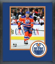 Milan Lucic 2016-17 Edmonton Oilers -11x14 Team Logo Matted/Framed Photo - $43.55