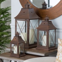 Magnolia Bronze Metal Lanterns, Durable Metal C... - $75.19