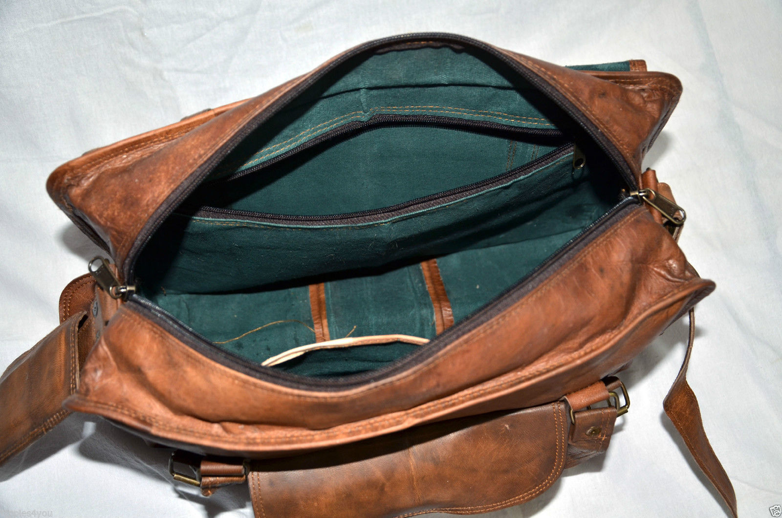 Real Leather Vintage Messenger Bag Laptop Satchel Sling Handmade Briefcase Bag