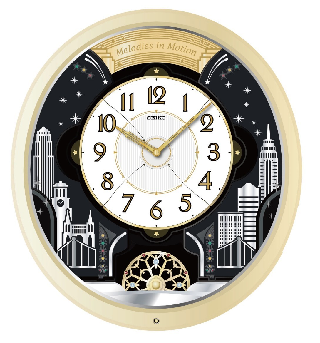 Seiko Melodies In Motion Musical Wall Clock Swarovski