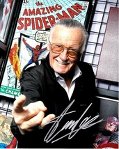 * Stan Lee Signed Poster Photo 8X10 Rp Autographed Marvel Comics - $19.99