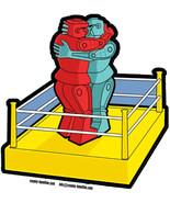 Rock Em Sock Em Robots Make Love not War vinyl sticker 120mm LGBT Banksy - $3.35