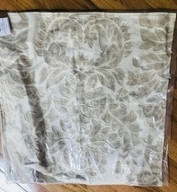 Pottery Barn Francesca Pillow Cover Neutral 24x24 Floral Embroidered - $74.50
