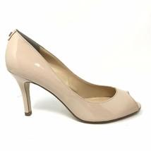 Ivanka Trump Womens Size 9 Patent Leather Peep Toe Pumps Nude Heels - $42.06