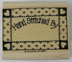 """Hand Stitched By RUBBER STAMP Quilt Frame New Stampin Up 1993 1-7/8 x 1-1/4"""" - $4.99"""