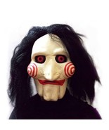 Saw Movie Jigsaw Puppet Mask Halloween Scary Prank - $16.99
