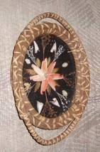 Vintage Raffia Shadowbox (Shells, Flowers) - $5.90