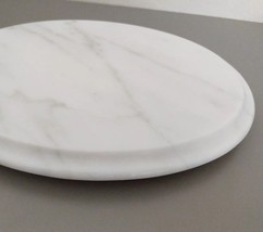 """Marble Oval Tray Stand Cutting Board footed Quarried Made in Italy 13"""" - $25.45 CAD"""