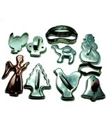 Lot of 10 Cookie Cutters Aluminum Steel Red Woo... - $12.95