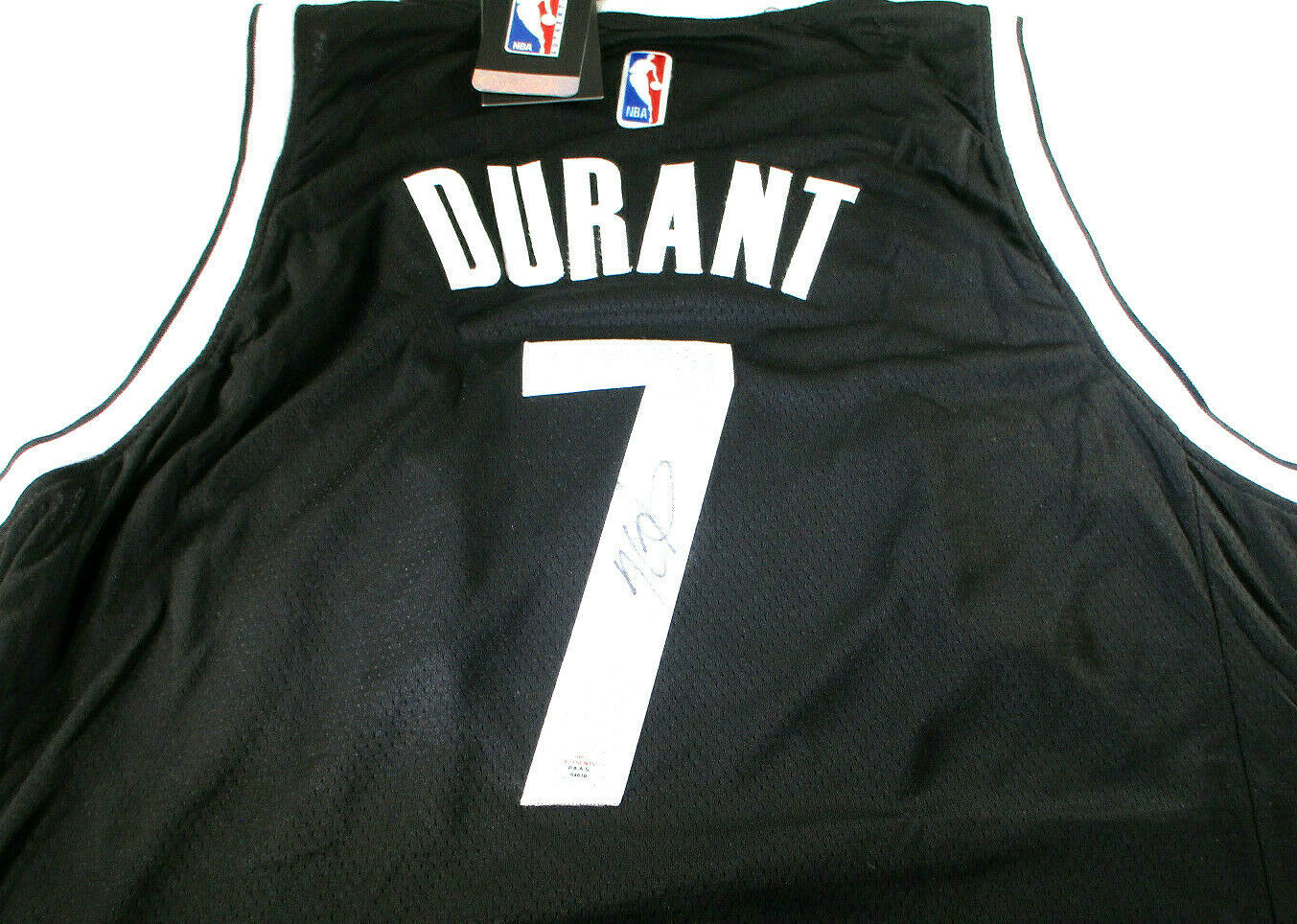 KEVIN DURANT / AUTOGRAPHED BROOKLYN NETS BLACK PRO STYLE BASKETBALL JERSEY / COA