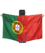 """Portugal Flag Wearable Country Flag. """"Made to Wear"""" 3ft×5ft, Unisex. Vib... - $19.59"""