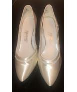FABULOUS Women's White Satin Dyeables  - Size 11~ IRR - NOS - $19.80