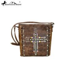 Montana West Floral Tooled Western Embroidered Arrow Crossbody Handbag - $49.99