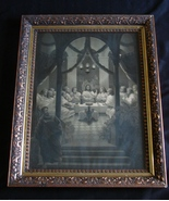 "F.W. Wehle Litho Print, ca. 1886 in Original Frame "" The Lord's Supper"" - $125.00"