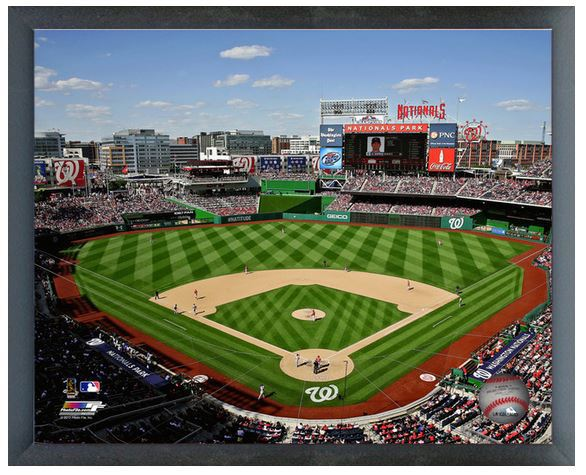 "Washington Nationals Park 11"" x 14"" Photo in an 11"" x 14"" Glassless Sports Frame"