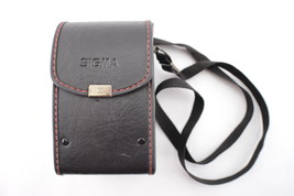 Vintage Genuine SIGMA NC-2 Hard Leather Camera Lens Case with Strap - $14.97
