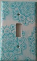 LOTUS FLOWER Light Switch Cover decor bathroom kitchen lighting blue gif... - $7.74