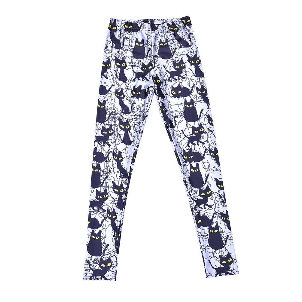 Aliexpress.com : Buy Zohra Harajuku Spandex Jersey Legging ...  |Cat Print Spandex