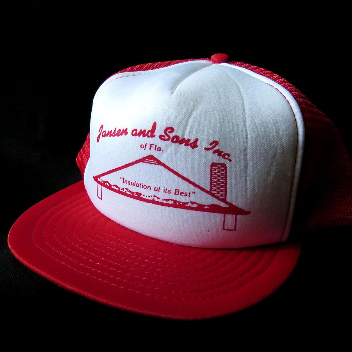 e878e1388f4 Vintage Mesh Snapback Hat Cap Jansen   Sons and 27 similar items. 57