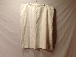 Womens ANNIE WALWYN-JONES Ivory Straight Above Knee Skirt Fully Lined