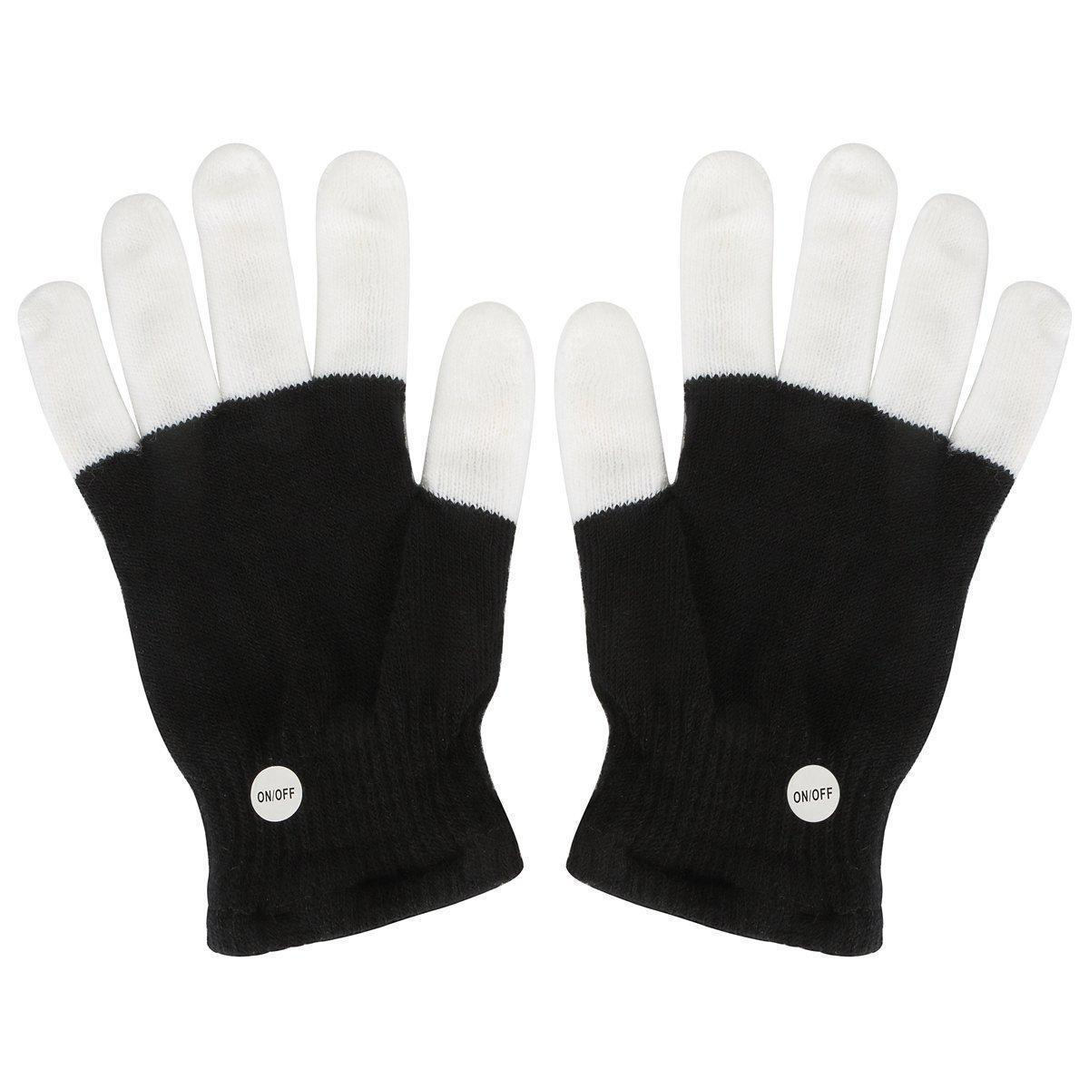 Multi-Color Electronic LED Flashing Gloves - One Pair w/Random Color or Design