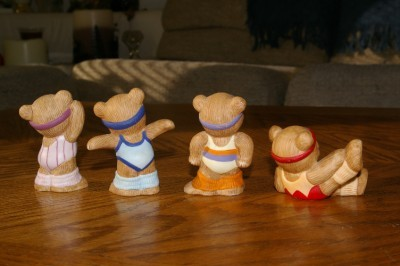 Homco Aerobic Bears 1448 Retired Home Interiors Figurines