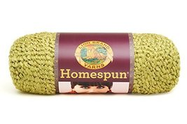 2 Skeins Lion Brand Yarn 790-399 Homespun Yarn, Apple Green - $15.04 CAD