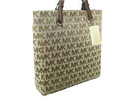 Michael Kors Logo MK Signature Purse XL Tote Be... - $197.99