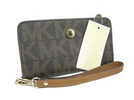 Michael Kors Logo Wristlet Purse Genuine Leathe... - $118.79
