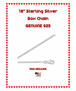 "CHEAP 16"" Box Chain with Lobster Clasp Silver Plate USA SELLER - $5.75"