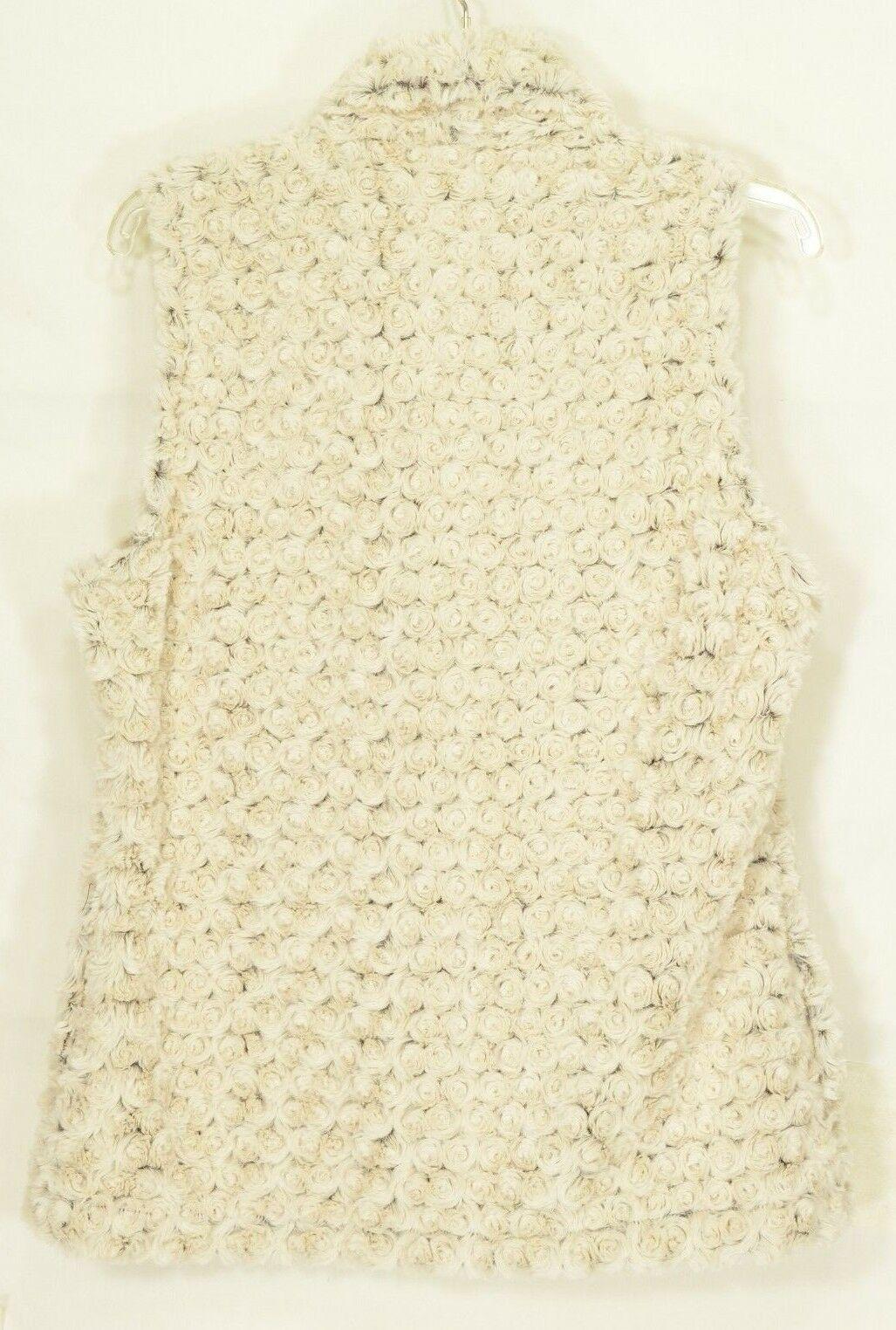 Vine Street vest SZ L NWT off white faux fur soft comfy feels like real fur USA
