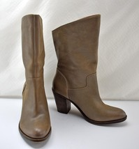 Lucky Brand Embrleigh Taupe Leather Ankle Boots - Women's Size 8 M - $47.45