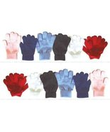 Gray Colored Kids Warm Winter Gloves Knit Children Magic Stretch Boys Girls - $8.91