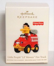2011 Hallmark Fisher Price Little People Fire Truck Christmas Ornament L... - $14.90