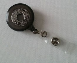 Silver badge reel key card ID holder lanyard retractable scrubs  - $5.24