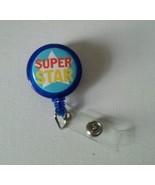 Super Star badge reel key card ID holder lanyard retractable scrubs - $5.95