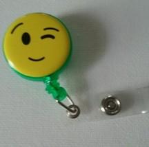Emoji badge reel key card ID holder lanyard retractable scrubs  - $5.95