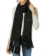 Steve Madden Women's Lurex Knit Tassel Scarf (Black) - $23.64
