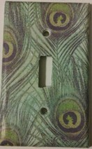 PEACOCK FEATHER Light Switch Cover lighting outlet wall home decor kitch... - $7.75