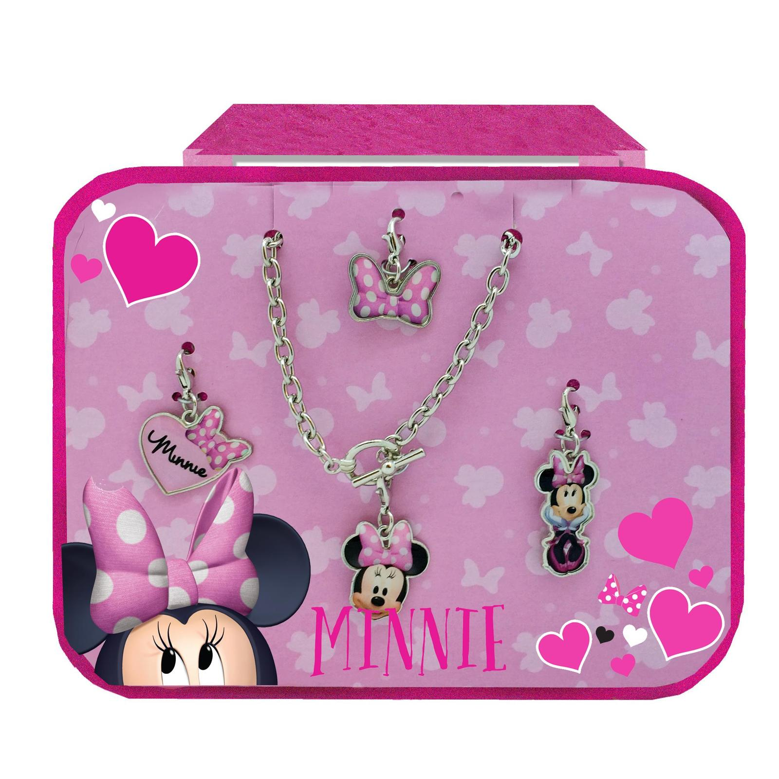Minnie mouse glitter bag and jewelry set minnie for Minnie mouse jewelry box