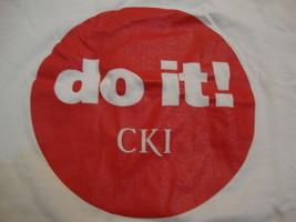 "Vintage ""Do It!"" Circle K International college club White Shirt Mens Size L - $15.04"